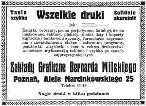 Bernard Milski ogłoszenie