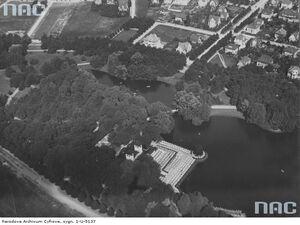 Park Sołacki z lotu ptaka 1930