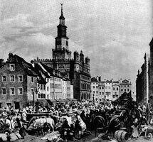 Stary Rynek w dzień targowy