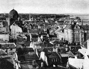 Widok z wieży ratuszowej w kierunku północnym 1927