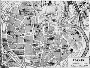 Plan Poznania 1917