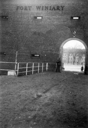 Brama główna fortu Winiary - 1940