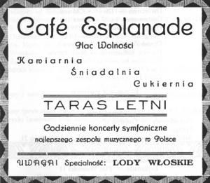 Cafe Esplanade - reklama