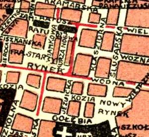 Uliczki na Starym Rynku 1927