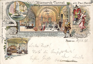 Bismarck-Tunnel, ul. Kantaka - 1891 - Pocztówka