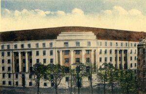 Hotel Polonia - ilustracja z czasów PeWuKa