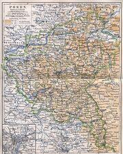 Przedwojenna mapa wielkopolski