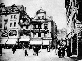 1906 - narożnik rynku z wylotem na ul. Zamkową