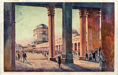PWK - widok na dziedziniec centralny - pocztówka