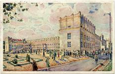 PWK - pałac rządowy - pocztówka