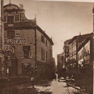 Wodna - kamienica firmy Hartwig - widok z Garbar - stan 1888 medium