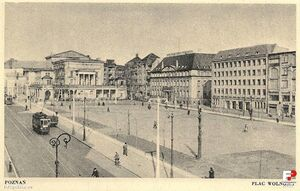 Plac Wolności po wojnie