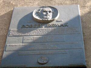 Robert Remak - tablica upamiętniająca