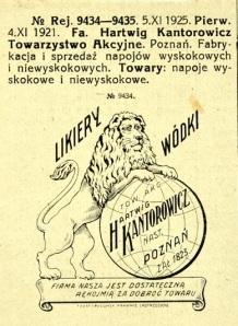 Znak towarowy zastrzezony w 1920