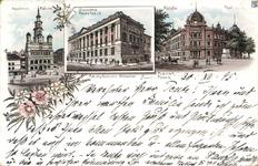 Biblioteka Raczyńskich i Ratusz - Pocztówka