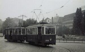 Tramwaj na pl. Wolności - 1960