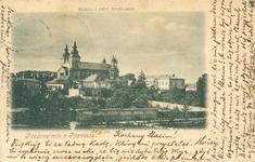 Katedra i Pałac Biskupi - 1900 - Pocztówka