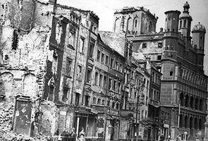 Zniszczony stary rynek