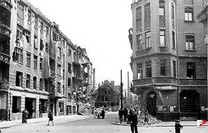 Ulica Garbary i Grobla - 1945
