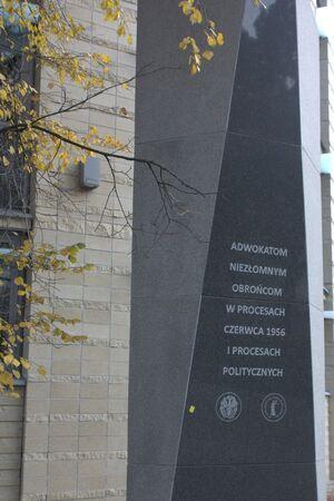 Pomnik pamięci adwokatów w procesach politycznych