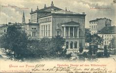 Deutsches Theater auf dem Wilhelmsplatz - 1899 - Pocztówka