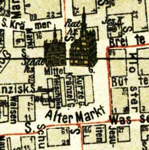 Uliczki na Starym Rynku 1910