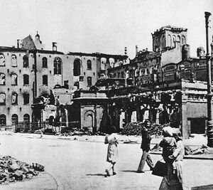 Zniszczony Nowy Ratusz