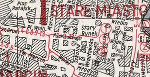 Tramwaje Śródmieście plan 1948