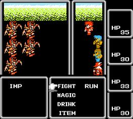 Final Fantasy I Battle