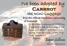 Adoption Certificate for Carrrot
