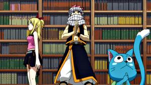 Natsu y Lucy se infiltran en la mansión