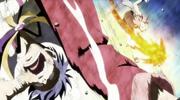 Natsu golpea a Bora