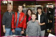 Luke Mitchel and his Family