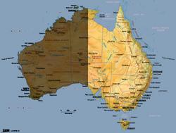 Australia map East copy
