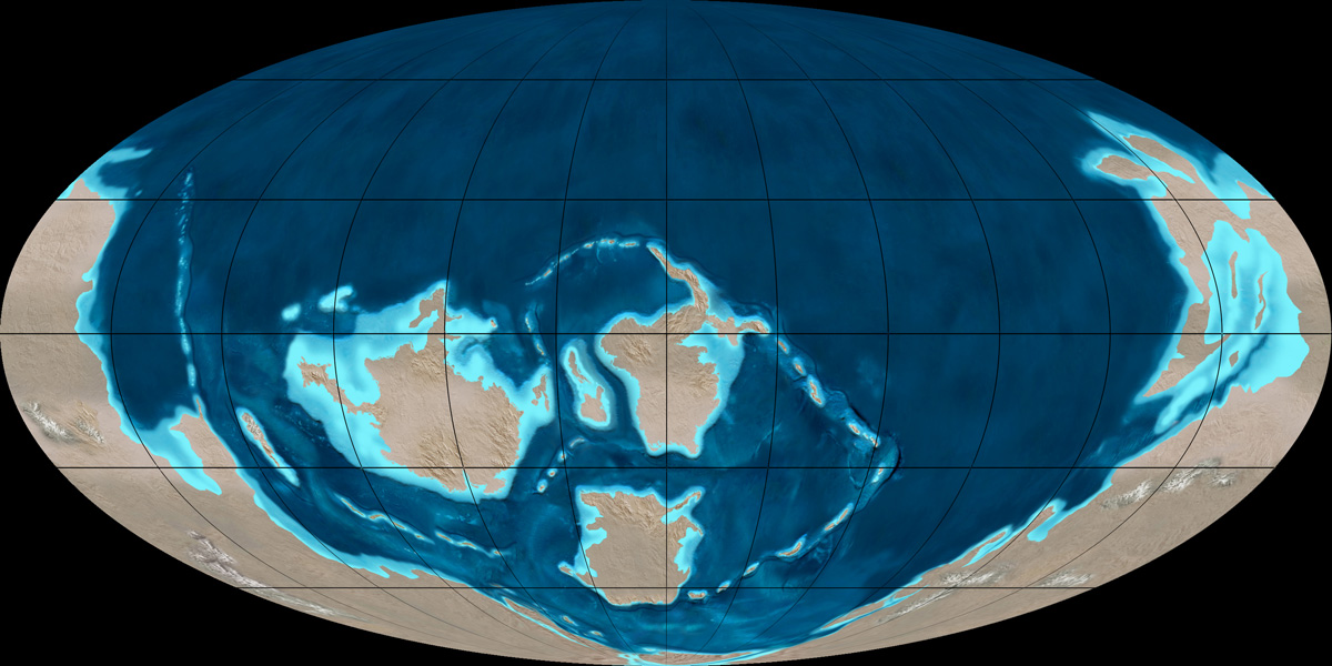 Image Cambrianperiodmap Jpg Prehistoric World And Monsters Wiki
