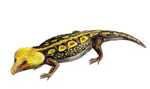 Labidosaurus life restoration