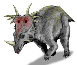Styracosaurus BW