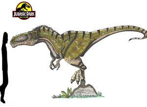 Jurassic Park Alioramus by hellraptor-1-