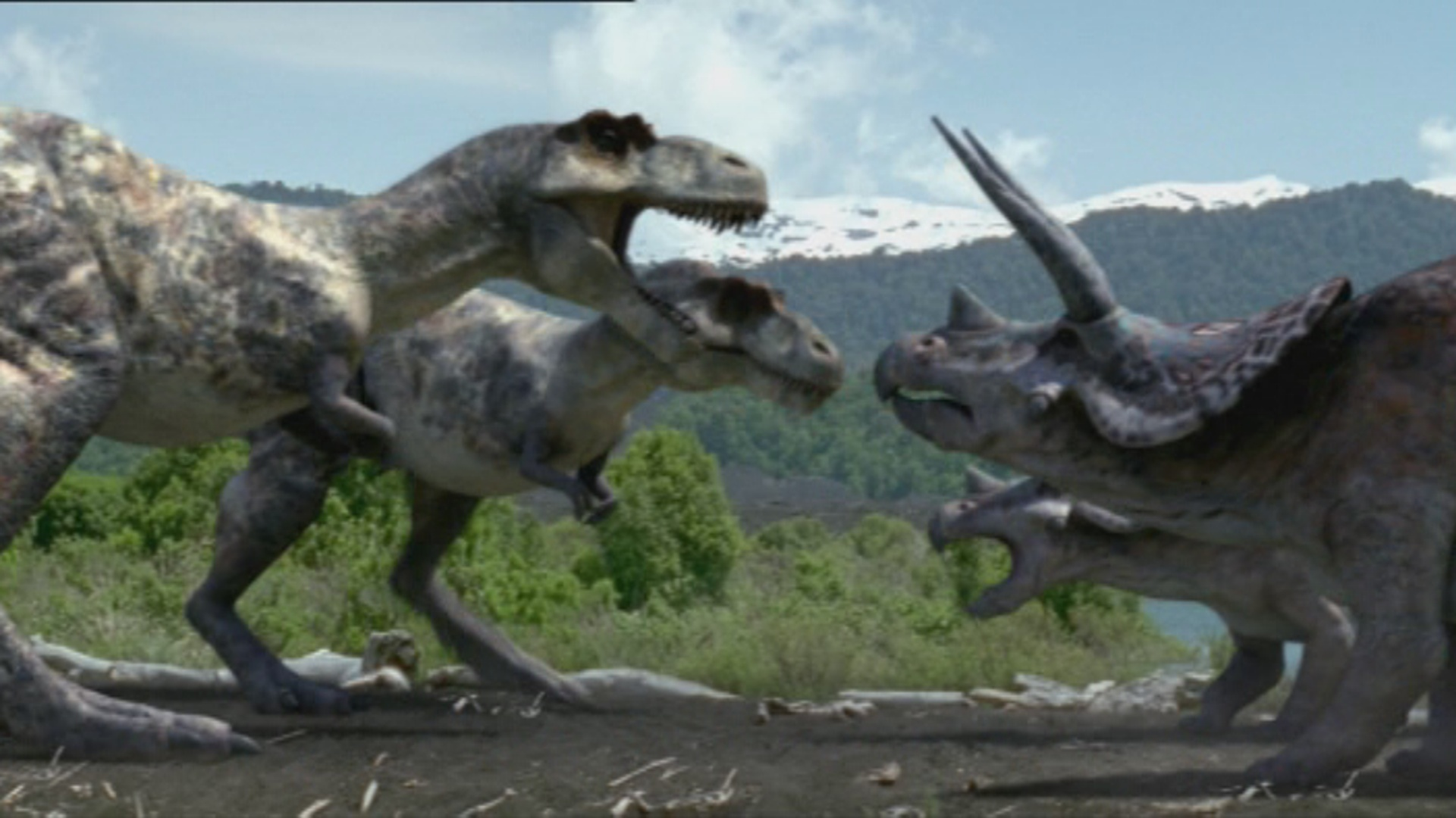 triceratops and tyrannosaurus clashing t rex returns