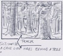 Cave lion storyboard