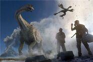 Titanosaurus and Microraptor