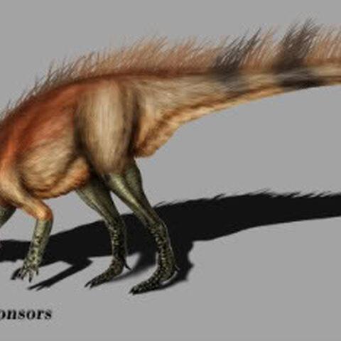 Reconstrucción de Abrictosaurus mostrando un posible plumaje