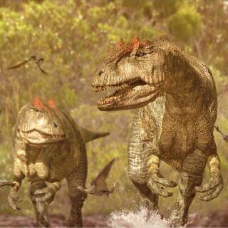 Una pareja de Allosaurus.
