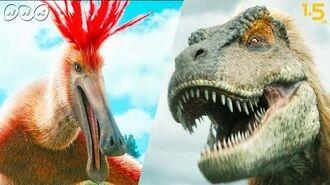 【恐竜CG】巨大羽毛恐竜・デイノケイルス vs. タルボサウルス!【NHKスペシャル 恐竜超世界×NHK1.5ch】Japanese dinosaurs CG