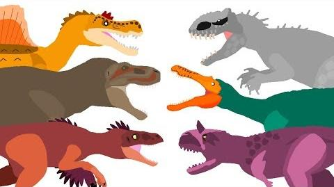 Dinosaurs Cartoons Battles - the BEST of DinoMania - animated movies 2018 Dinosaurs Fighting