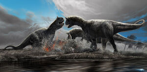 Carnotaurus feasting by AIRt