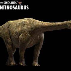 Argentinosaurus en caminando con dinosaurios