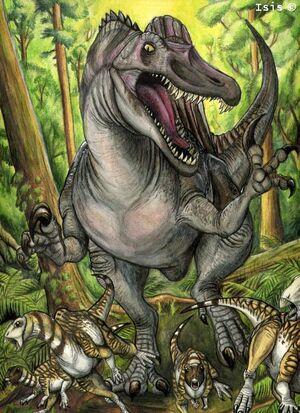 Spinosaurus Chasing