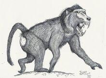 Dinopithecus ingens by hodarinundu-d15nbvf