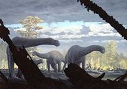 Patagosaurus,dinosaurs,long-necked dinosaurs,Jurassic period,plant-eaters-031